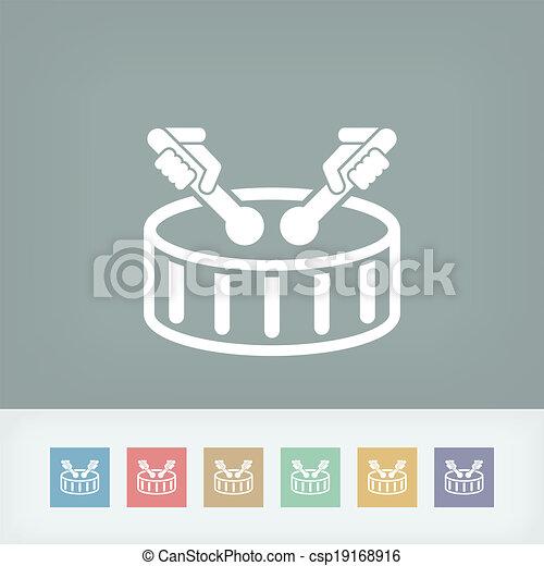 Drum icon - csp19168916