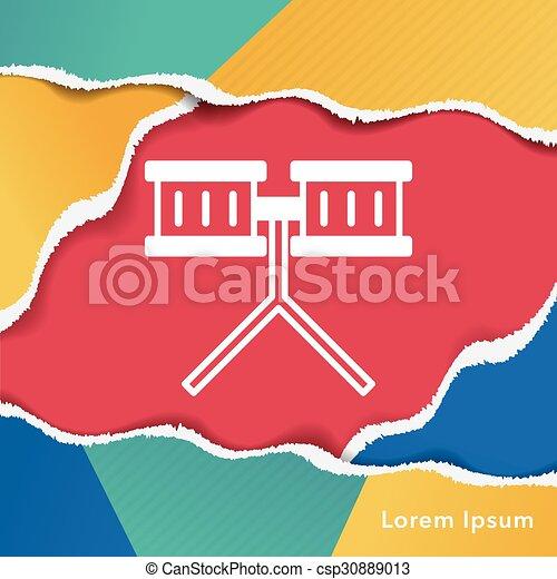 drum icon - csp30889013
