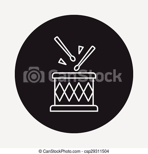 Drum Line Icon Vector