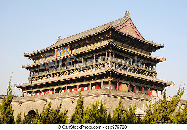 Drum Tower of Xian China - csp9797201