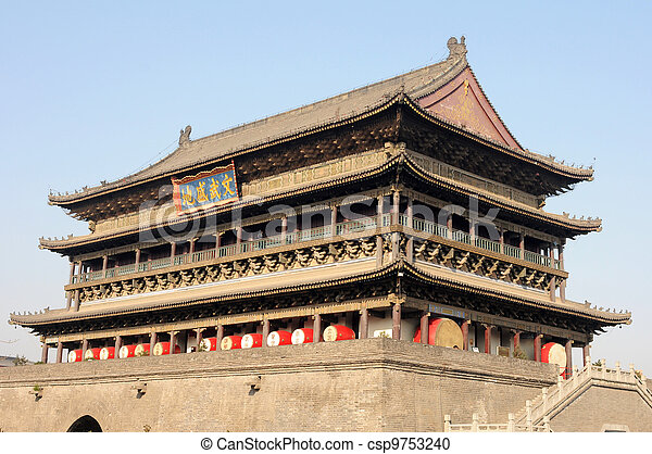 Drum Tower of Xian China - csp9753240