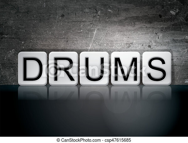 Drums Concept Tiled Word - csp47615685