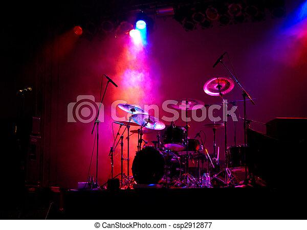 Drums in Lights - csp2912877