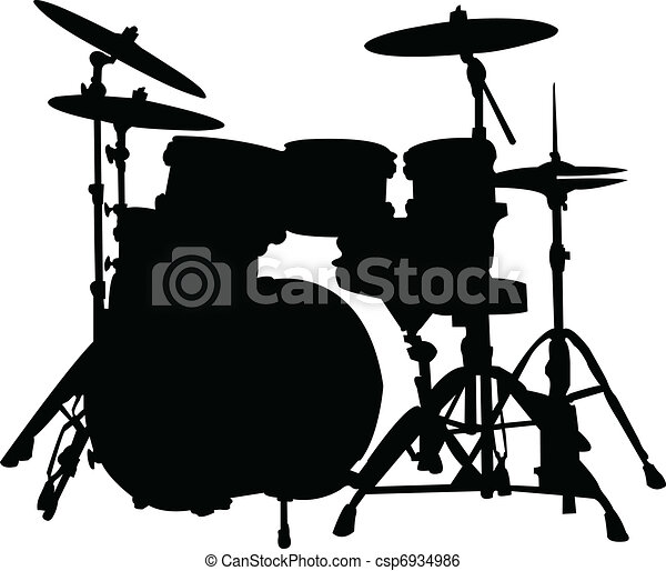 Drums silhouette - csp6934986