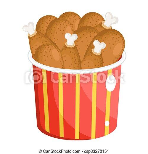 drumsticks, chicken, bbq - csp33278151