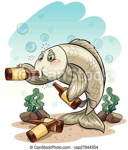 Drunk fish under the sea - csp27844354