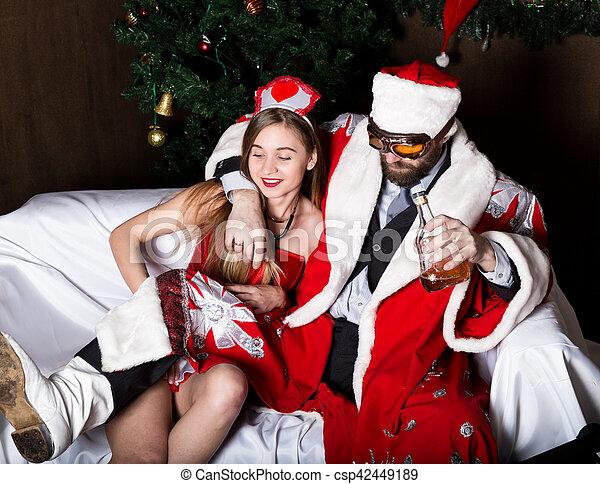 claus Drunk santa
