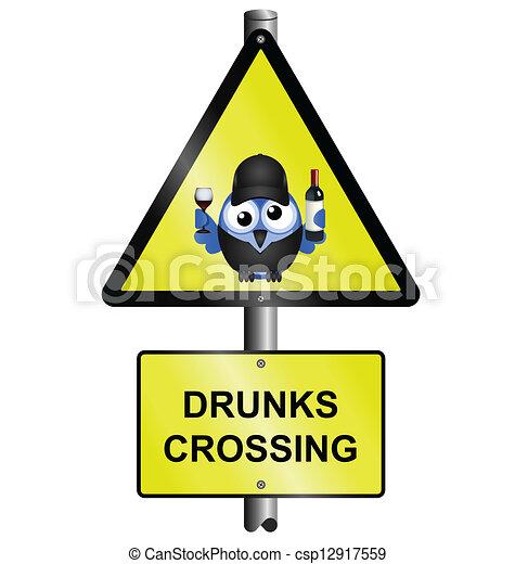 drunks crossing sign - csp12917559