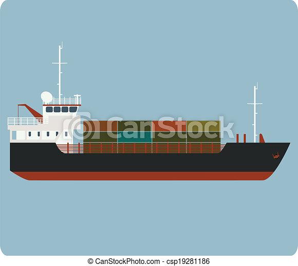 Dry cargo ship - csp19281186