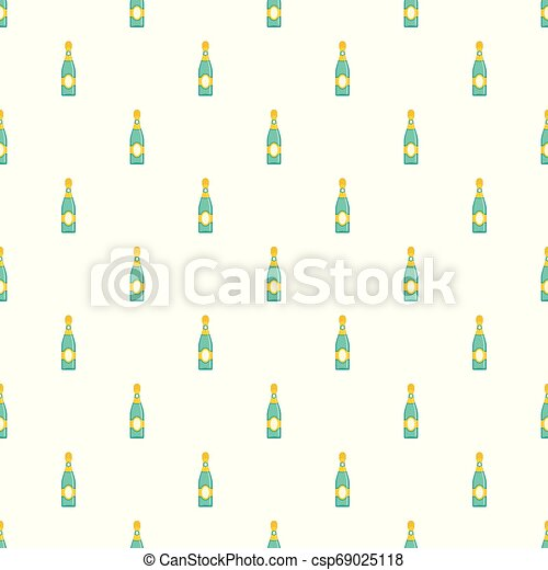 Dry champagne pattern seamless vector - csp69025118