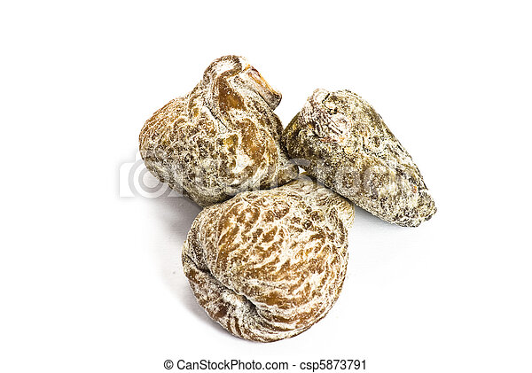 Dry figs on white background - csp5873791