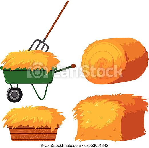 dry hay in bucket and wagon illustration eps vector search clip rh canstockphoto com