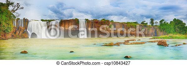 Dry Nur waterfall - csp10843427