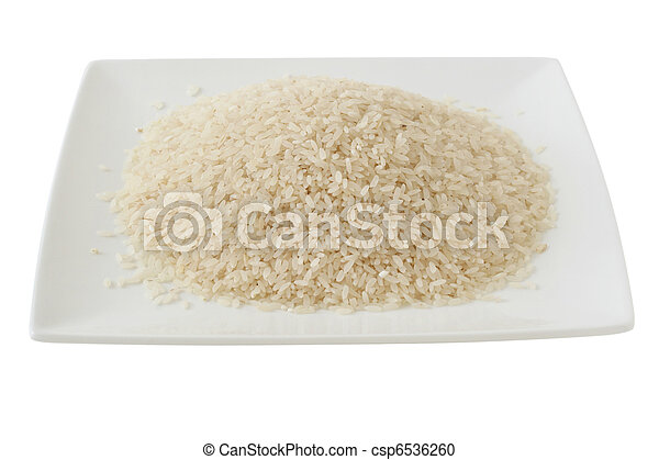 dry rice on a plate - csp6536260