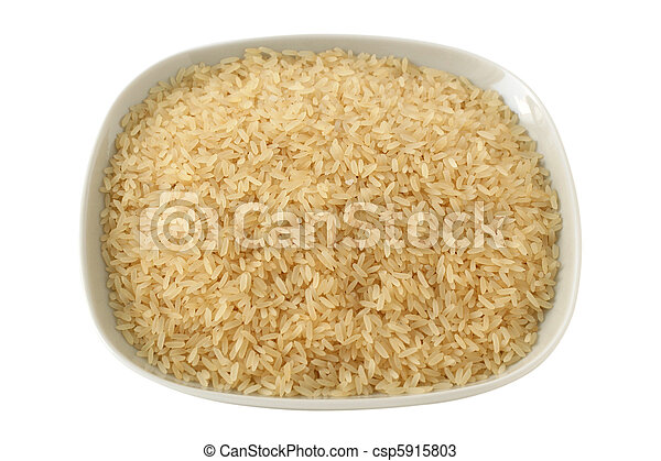 dry rice on a plate - csp5915803