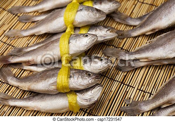 Dry salty fish  - csp17231547
