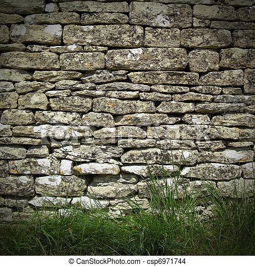 dry stone wall - csp6971744