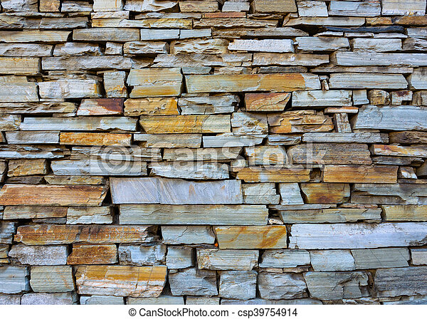 Dry stone wall texture - csp39754914