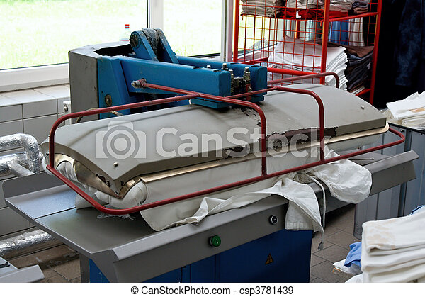 Drying and ironing rolling press - csp3781439