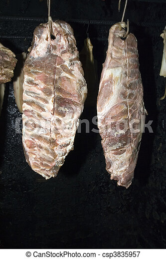 Drying meat - csp3835957
