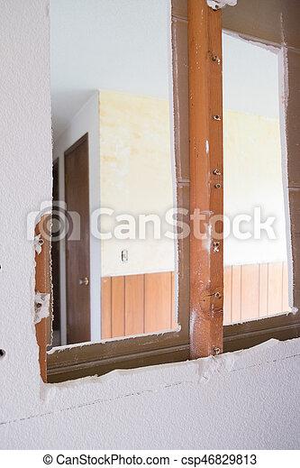 Drywall Demo Day House Renovation - csp46829813