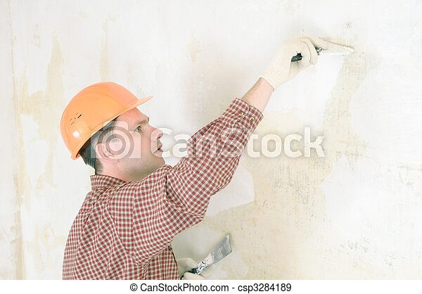drywall taping contractor - csp3284189