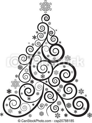 drzewo, boże narodzenie, ozdobny - csp20788185