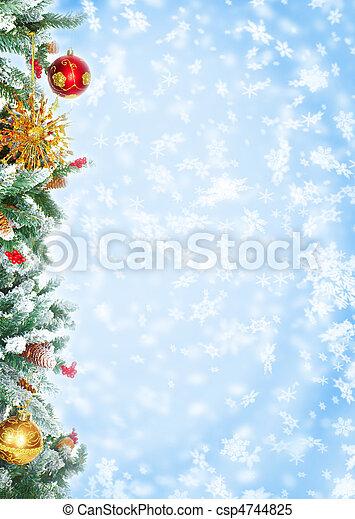 drzewo, boże narodzenie - csp4744825