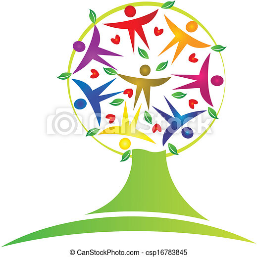drzewo, teamwork, logo - csp16783845