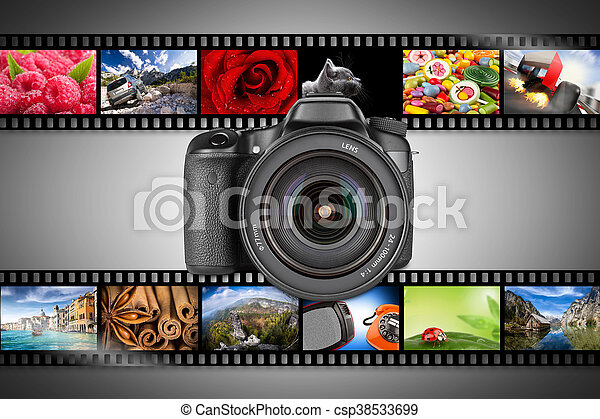 dslr camera concept - csp38533699