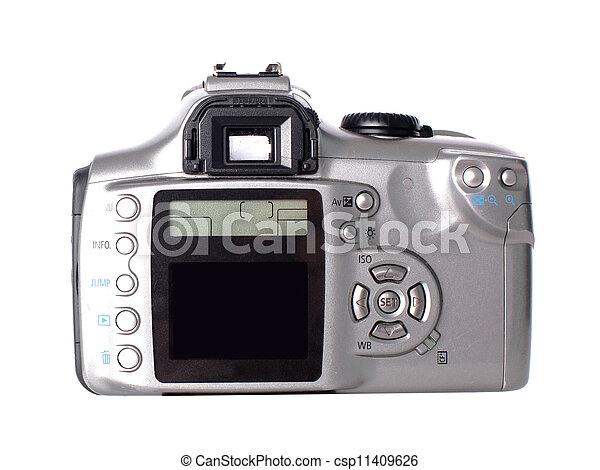 Dslr camera isolated on white - csp11409626