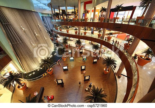 DUBAI - APRIL 18: Interior View of Dubai Mall, one of largest mall in the world on April 18, 2010 in Dubai, United Arab Emirates. - csp5721960