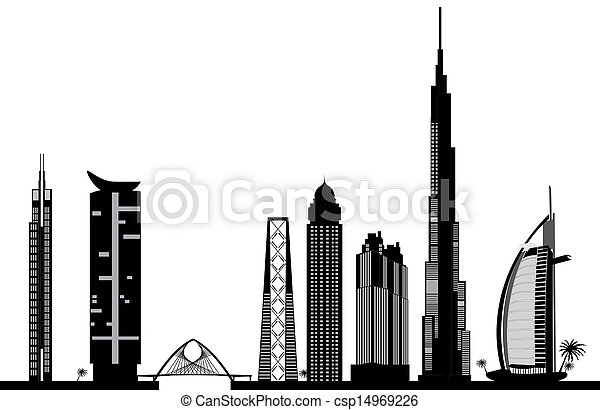 dubai skyline - csp14969226