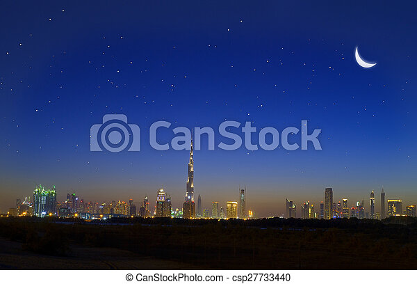 Dubai skyline - csp27733440
