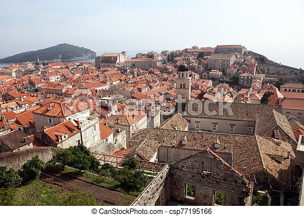 dubrovnik, croatia, franciscan, 修道院, 古い 都市 - csp77195166