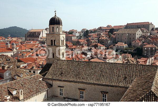 dubrovnik, croatia, franciscan, 修道院, 古い 都市 - csp77195167