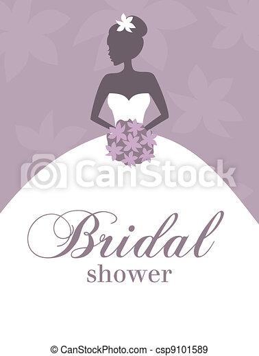 Invitación de la ducha nupcial - csp9101589