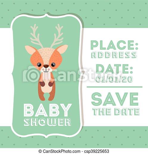 Ícono de bebé de bebé reno - csp39225653