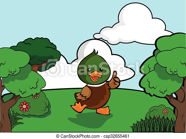 Duck and Forest scenery - csp32655461