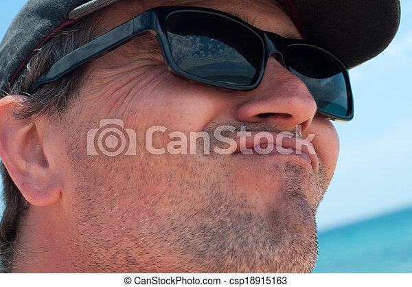 """""""duck, fazer, jovem, face"""", homem - csp18915163"""