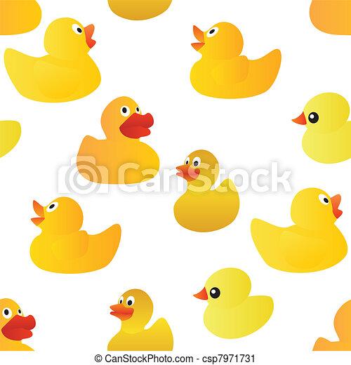 ducks seamless pattern - csp7971731