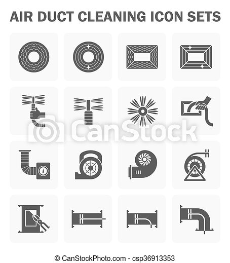 Duct clean icon - csp36913353