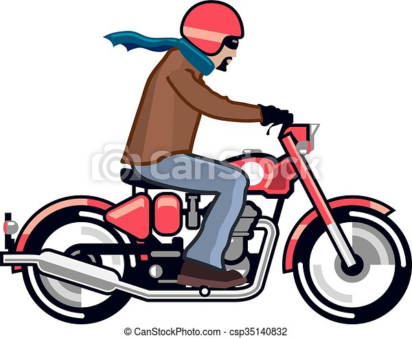 dude on motorcycle vectors search clip art illustration drawings rh canstockphoto com motorcycle vector images motorcycle vector images