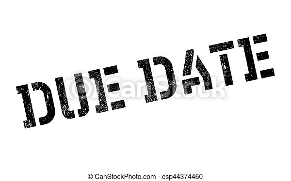 Line Art Vector Design : Due date rubber stamp grunge design with dust scratches clip