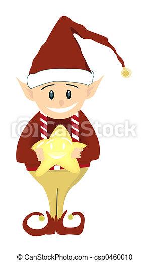 Elfo navideño - csp0460010