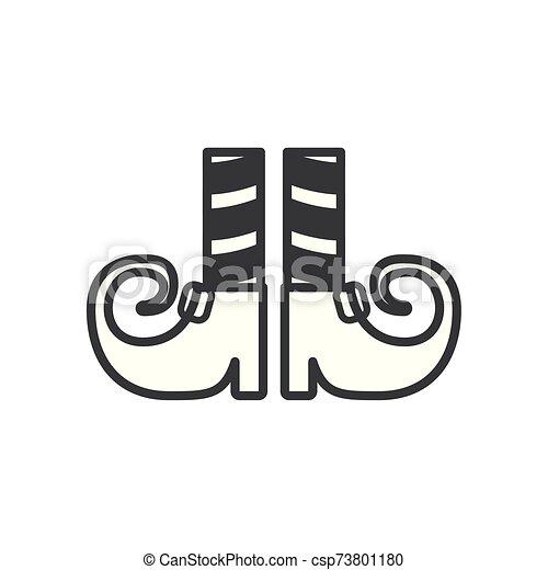 duende, shoes, halloween, calcetines, piernas - csp73801180