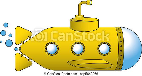 duikboot, gele - csp5643266