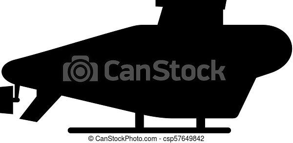 duikboot, vliegen, pictogram - csp57649842