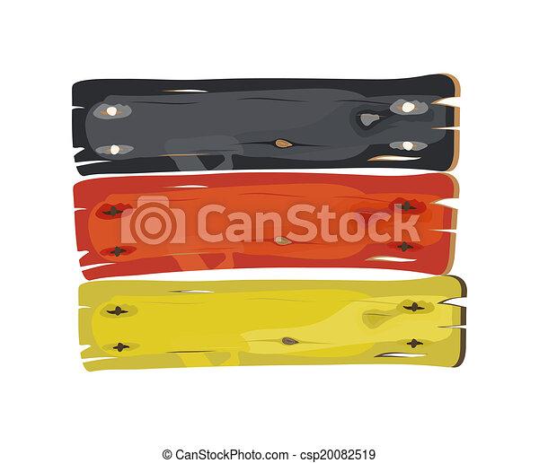 duitser, geverfde, vlag, plank, houten - csp20082519