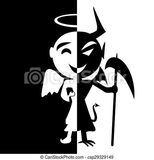 Duivel Engel Disordersmile Zelfde Persoon Bipolair